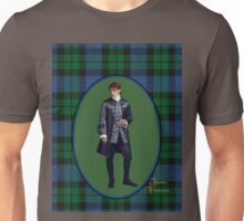 Jamie on blue and green plaid Unisex T-Shirt