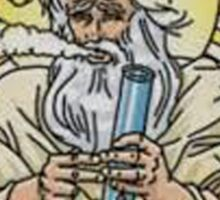 God with bong image Sticker
