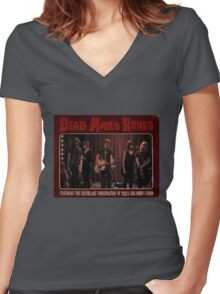Dead Man's Pizza Women's Fitted V-Neck T-Shirt