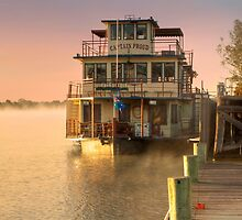 Captain Proud and Golden Sunrise, Murray Bridge by Mark Richards