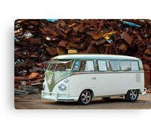 VW Bus Deluxe 1966 Canvas Print