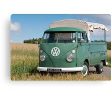 Velvet Green 1967 VW Single Cab Canvas Print