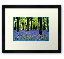 Haze Of Blue Framed Print