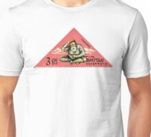 1966 Bhutan Abominable Snowman Postage Stamp Unisex T-Shirt