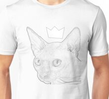 Black and White Crowned Sphynx Cat Unisex T-Shirt