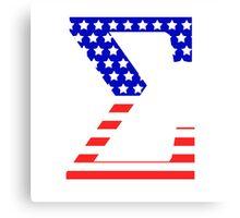 Sigma Symbol American Flag Design Canvas Print
