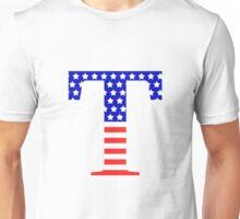 Tau Symbol American Flag Design Unisex T-Shirt