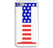 Tau Symbol American Flag Design iPhone Case/Skin