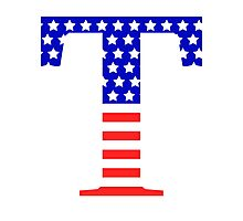 Tau Symbol American Flag Design Photographic Print
