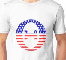 Theta Symbol American Flag Design Unisex T-Shirt