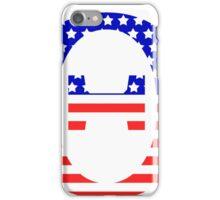 Theta Symbol American Flag Design iPhone Case/Skin