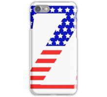 Zeta Symbol American Flag Design iPhone Case/Skin