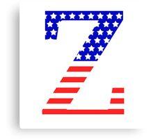 Zeta Symbol American Flag Design Canvas Print