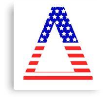 Delta Symbol American Flag Design Canvas Print