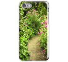 Cottage garden path iPhone Case/Skin