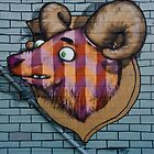 Ram mural graffity on the textured wall by yurix