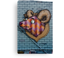 Ram mural graffity on the textured wall Canvas Print