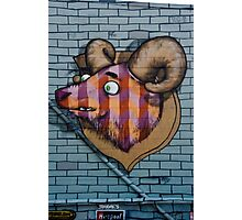 Ram mural graffity on the textured wall Photographic Print