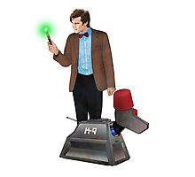 The 11th Doctor and K-9 Photographic Print