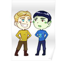Kirk and Spock Poster