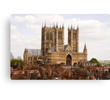 Lincoln Cathedral, Lincoln, UK Canvas Print