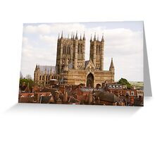 Lincoln Cathedral, Lincoln, UK Greeting Card