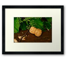 Champagne cork Framed Print