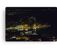 landscape lake at night Canvas Print