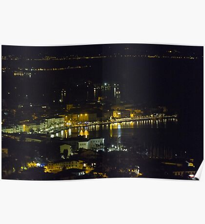 landscape lake at night Poster