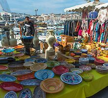 Local pottery stall at the Sunday Market by DavidMay