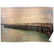 Vintage textured historic Sumpter Wharf Poster