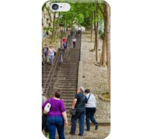 Stairs of Montmartre, Paris, France iPhone Case/Skin