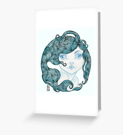 Sea Siren Circle Transparency Greeting Card