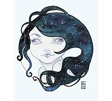 Galaxy Girl Circle Transparency Photographic Print