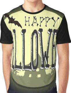 Hand drawn Halloween illustration Graphic T-Shirt