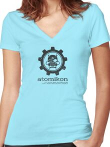 ATOMIKON Hot Rods & Motorcycles Women's Fitted V-Neck T-Shirt