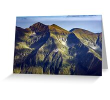 Mountain range at sunset Greeting Card