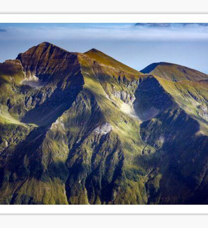 Mountain range at sunset Sticker