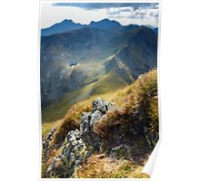 Mountain range with selective focus Poster