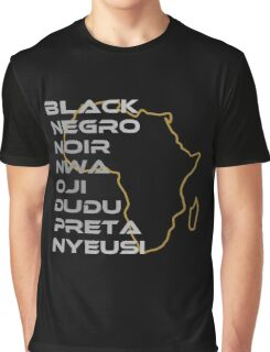 BLACK in Every Language Graphic T-Shirt