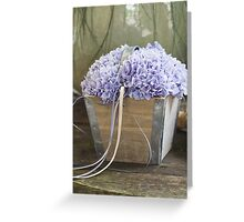 flower in the vase Greeting Card