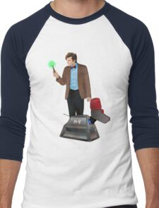 The 11th Doctor and K-9 Men's Baseball ¾ T-Shirt