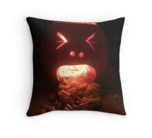Puking Pumpkin Throw Pillow