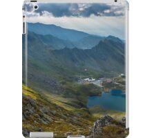 High resolution panorama of aerial view of Balea Lake iPad Case/Skin