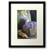 flower in the vase Framed Print