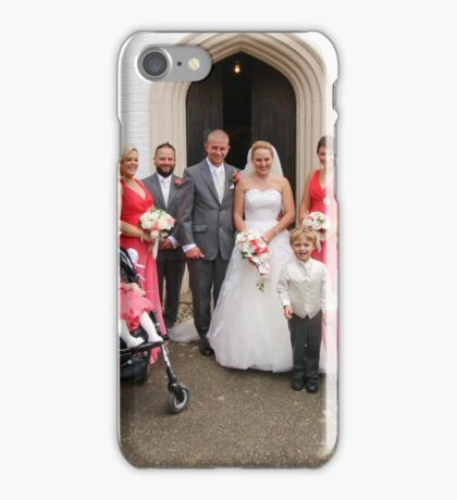 Maria & Gareth with Bridesmaids, Best Man & Ushers iPhone Case/Skin