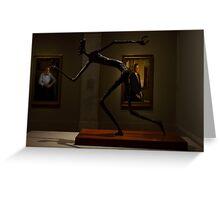 "Political cartoonist Pat Oliphant's sculpture, ""George Bush."" Greeting Card"