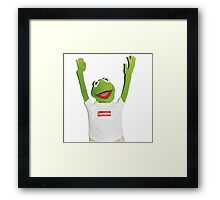 Kermit Happy Framed Print