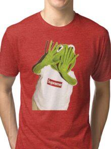 Kermit Photobomb Tri-blend T-Shirt