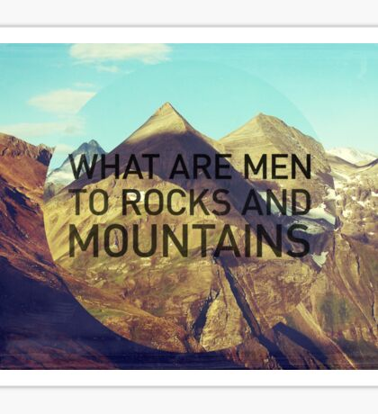 Mountains And Men Sticker